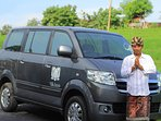 Budi with villa car