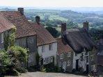 Gold Hill in Shaftesbury - Dorset's Saxon hilltop town