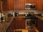 Fully stocked and equipped kitchen with everything you need.