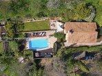 Drone view over the villa.