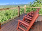 Imagine spending time with family and friends while gazing at the incredible mountain views