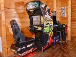 Fun games!  Fast and Furious driving game and Multicade with classics (PacMan, Galaga, DKong, etc.)
