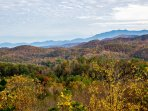 Enjoy the views of the fall colors.  In the winter, see snow on the mountains.