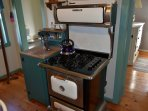 Replica antique gas stove.