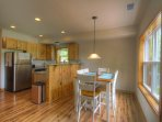 Fully furnished kitchen and open dining room