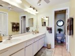 Master bath en suite has double sinks