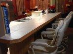 Kitchen bar seating.