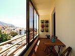 Balcony with vertical garden