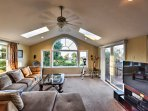 The home boasts 2,200 square feet of beautifully appointed living space.