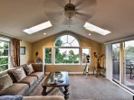 Numerous windows illuminate the entire space with natural sunlight.