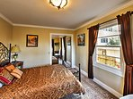 The third bedroom offers a queen-sized bed.