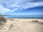 Just a half -mile from the property you'll find the beaches of Fisherman's Island State Park