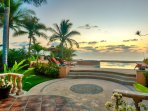 Beachfront pool terrace