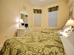 Fully furnished bedrooms include flat screen TVs