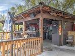 Grab a poolside drink at the community tiki bar!