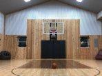 The half-court basketball gym.