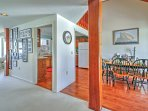 Open floor plan allows easy flow from room to room.