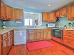 Prepare home-cooked meals in this remodeled, fully equipped kitchen! (Pictures of the new kitchen coming soon!)