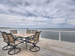 Experience an oceanfront getaway along the beautiful, rocky New England shoreline at this Scituate vacation rental home.
