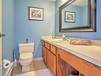This half bath is on the main level located off of the kitchen.  (This bathroom will be completely remodeled! New...