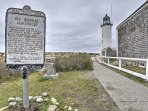 Enjoy an easy walk to beachfront attractions, including the historic lighthouse.
