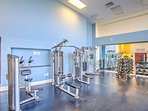 Work up a sweat in the onsite fitness center.