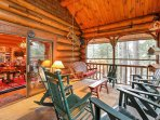 Step out to the enclosed sun porch, refuel with a cup of coffee and relax on porch furnishings during your downtime.