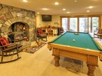 Share a friendly pool tournament and watch your favorite shows in the game room.