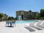 Enjoy some fun in the sun with plenty of seating, just a short walk across the parking lot from this unit.