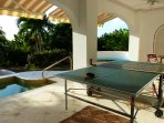 If you're feeling energetic you can have ping pong competitions on the downstairs terrace