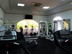 Air conditioned gym just a few minutes from the house