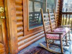 Front porch rockers and swing for your relaxation