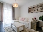 SPACIOUS and COMFORTABLE LIVING ROOM with latéral SEA VIEW.