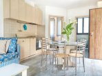 Residence Domaso_ one bedroom apartment_ Kitchen and living room_