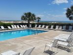 1 of 6 outdoor pools which you can use.  Note the gorgeous view of Gulf of Mexico just beyond chairs