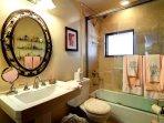 Bathroom with shower/tub.