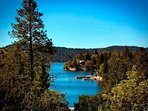 Beautiful views of Lake Arrowhead from the property.