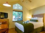 Queen bed and kitchenette in your own private cottage.