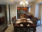 Dining room to entertain guest in the open floor plan