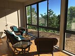 Sitting area outside the master bedroom - enjoy coffee with lake views