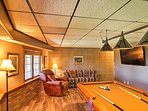 Don't forget to play a bit of darts or a round of pool while you're downstairs.
