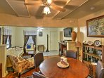 The open-living room and dining room make it easy for everyone to spend time together.