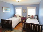 Bedroom 5.  2 twin beds 2nd floor - 'Starfish Room' - 388 Main Street (The Priscilla House) Chatham Cape Cod New...
