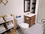 3rd floor bathroom #5 from Bedroom # 9 with shower - 388 Main Street (The Priscilla House) Chatham Cape Cod New England...
