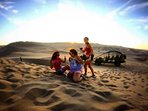 WE love taking people to Sand Dunes where you go SandBoarding, ride Dune Buggys, and experience LIFE