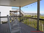Oceanfront Covered Porch w/ Rocking Chairs