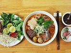 Bun Bo Hue - served at ground floor of the building- traditional breakfast