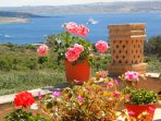 Great terrace views and Great location to discover Gozo - No car needed.
