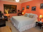 3rd bedroom off kitchen, with 2 twin beds as a king size.WIFI TV.