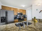 Fully equipped kitchen with new appliances.